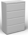 Archivero horizontal metalico DE 4 gabetas