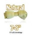 "Bolsa de 2 carnaza tipo hueso sabor natural 7-8"""