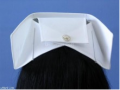 Cofia Bordada con Guia Flores Blancas para Enfermera