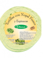 Tortillas con Nopal Fresco y Espinacas