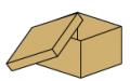 Caja de carton fondo tapa