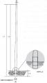 Poste troncocónico para la línea de distribución
