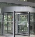 Puertas giratorias de cuatro hojas