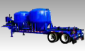 Plataforma con silos para el manejo de materiales a granel en campos petroleros