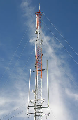 Torre de radiocomunicación.