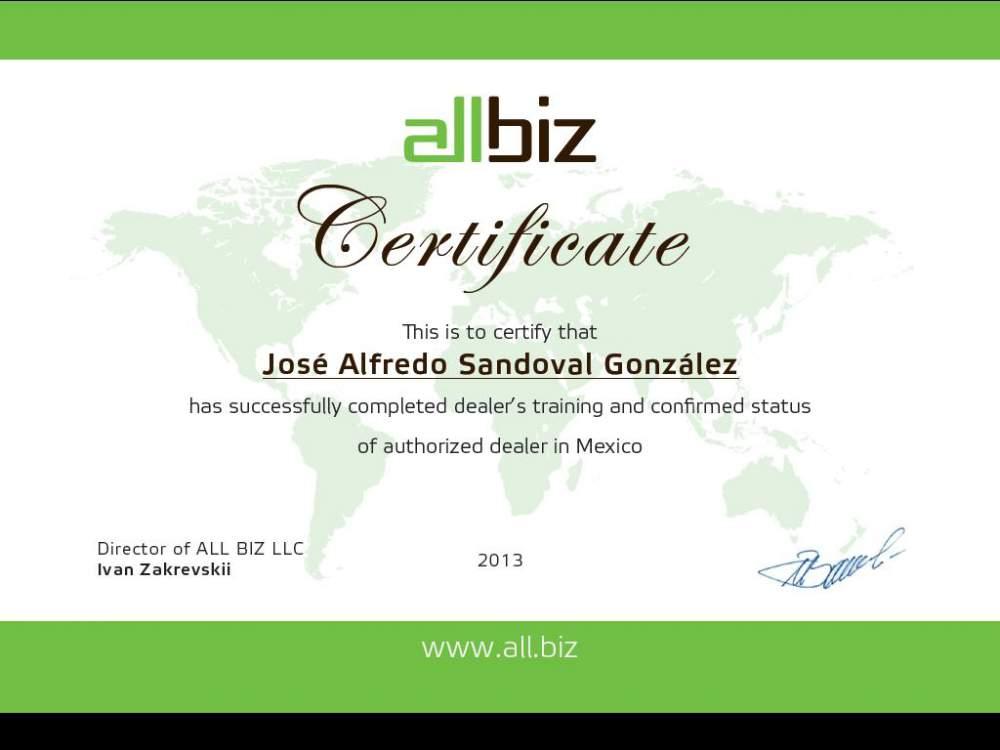 Pedido Representación Comercial de All Biz en México