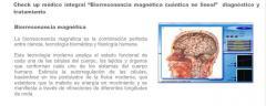 Servicios medicos de Biorresonancia