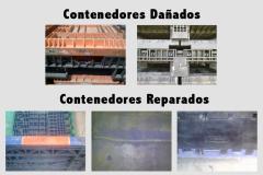 Reparación de contenedores dañados