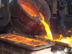 Fusión y vaciado de acero