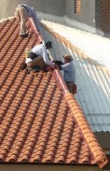 Colocación de techo inclinado